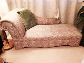 Chaise Lounge - Sofa - Seat. Floral Vintage. Delivery Available.