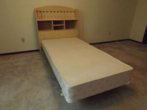 FREE Bookcase/headboard and box spring