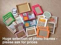 Lots of photo frames