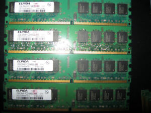 Crucial Kingston DDR DDR2 DDR3 1GB 2GB 4GB desktop RAM memory