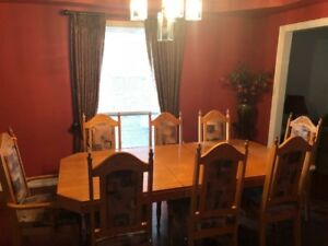 ***DINNING ROOM TABLE AND 8 CHAIRS***