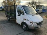 02 MERCEDES SPRINTER 2.2 311 CAGED DROPSIDE FLATBED 3.5T MWB GOOD TYRES SWAPS