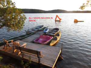 HALIBURTON WATERFRONT COTTAGE SLEEPS 12 -SEVEN BOATS INCLUDED