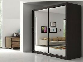 ◀️D=H=215cm/W=203cm/D= 61 cm▶️2 Door Berlin Sliding Fully Mirrored Wardrobe available IN 4 COLOR🔅🔆