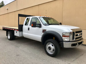 2010 FORD F-450 EXTENDED CAB 4X4 FLAT DECK ! ALL DELETES DONE !