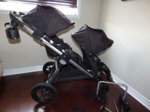 City Select Baby Jogger Double Stroller with Bassinet