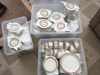 CHINA - CUPS, SAUCERS, PLATES, TEAPOTS, MILK JUGS - NEVER USED