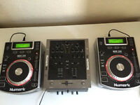 Numark CDJ set up with mixer