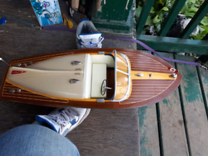 Rc real wood boat sale or tread