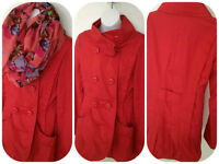 Ladies,like new Vero Moda ,red coral funnel collar jacket xs