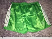 Mint Adidas shiny vintage short shorts in various sizes and colours