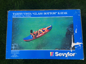 Inflatable Kayak with SEE THROUGH BOTTOM- NEW