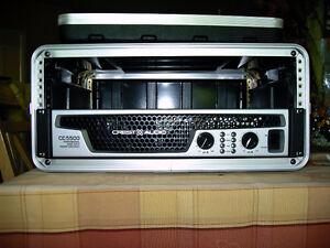 Crest audio 5,500 watt power amplifier model CC5500
