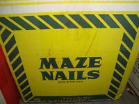 BOX OF MAZE WOOD SIDING COIL NAILS 2.5""