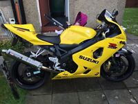 Suzuki gsxr 750 2004 Px or swap 1000 sports bike