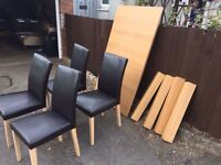 MODERN WOOD TABLE AND 4 CHAIRS ** FREE DELIVERY AVAILABLE **
