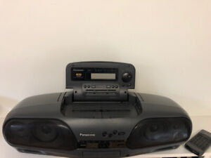 PANASONIC Vintage Portable Stereo Dual Deck CD RX-DT707