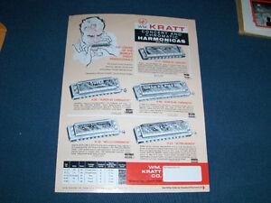 1970 WILLIAM KRATT HARMONICA PRICE LIST-CHROMATIC-CONCERT
