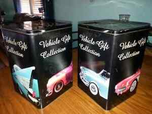 2 COLLECTABLE 8X8X12 TIN CANS $5.00 for both Windsor Region Ontario image 1