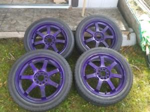 Mint freshly powder coated brand new tires