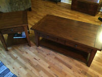 Wood Coffee Table and End Table Set - Excellent QualityCondition