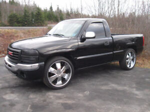 2006 GMC Sierra 1500, Dual Exhaust, 24 inch Chrome Wheels