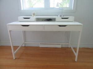 Bureau Ikea (Alex) blanc bois et métal