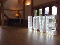 **Hire Candy Cart, Giant Love Letters and baby blocks, Ferris Wheel, Post Box and Chair Covers
