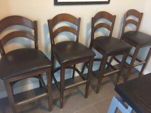 Cherrywood High bar chairs