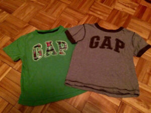 Two size 2T (will fit 2-3) GAP t shirts. Pu in Dieppe.