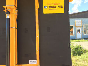 Solar Powered Hydraulic Trailer Mounted Construction Sign Williams Lake Cariboo Area image 4