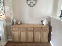 6 light oak side board cabinets unit draws 🌸