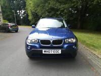 BMW X3 2.0 D SE 5 DOOR - 2007 07-REG - FULL 12 MONTHS MOT