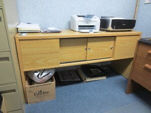 PRINTER/FAX OFFICE TABLE WITH STORAGE