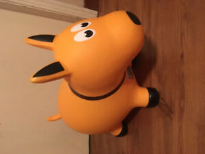 Toddlers inflatable rubber puppy