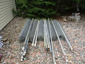 Galvanized Chain Link Fence, Poles and Hardware