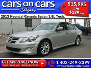 2013 Hyundai Genesis Sedan 3.8L TECHNOLOGY w/Leather, Sunroof, B