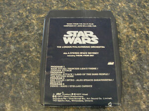 Vintage Star Wars The London Philharmonic Orchestra 8-Track 1977