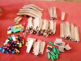 Job lot Brio & Ikea wooden train set with accessories