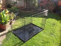 Ellie-Bo Dog Cage Folding 2 Door Crate 48 inch size