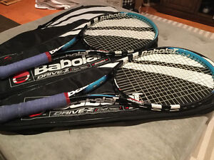 2 Babolat Drive-Z Series Pure Drive Junior Tennis racquets