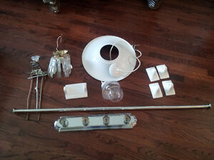 Assorted home renovation parts - bathroom and lighting