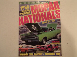 1998 OFFICIAL MOPAR NATIONALS PROGRAM AT NATIONAL TRAIL RACEWAY,
