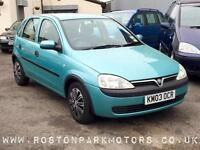 2003 VAUXHALL CORSA 1.2i 16V Club 5dr ideal first car low insurance