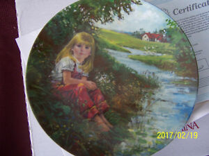 """A QUIET MOMENT"" ~ Dominion China Collecter plate with COA."