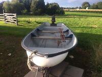 14ft fibreglass fishing boat & engine