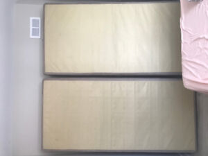 Box spring (two pieces) support for king size bed for sale