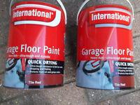 2 x 5Litres of International Garage Red Tile Floor Paint