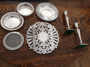 Various Silver and Silver Plated Dining Pieces