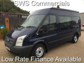 2012 (12) FORD TRANSIT CREWCAB T300 2.2 125 FWD DIESEL BLUE FACTORY FITTED
